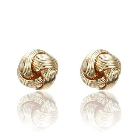 Fashion hollow twist ring stud earrings NHPF151079's discount tags
