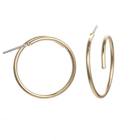 Geometric metal circle hoop earrings NHPF151083's discount tags