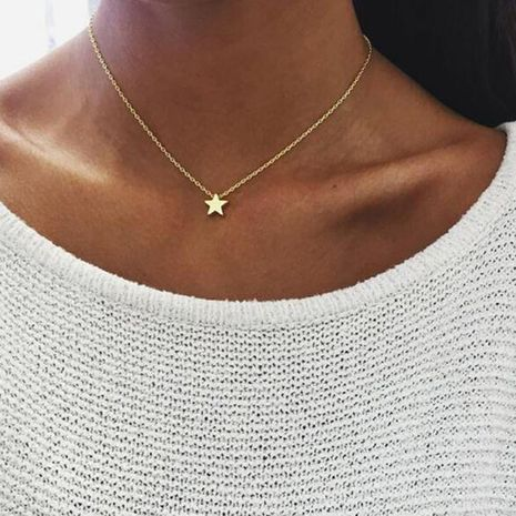 Star alloy simple necklace NHPF151126's discount tags