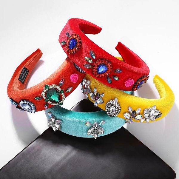 Velvet and diamond sponge headband NHJQ151169