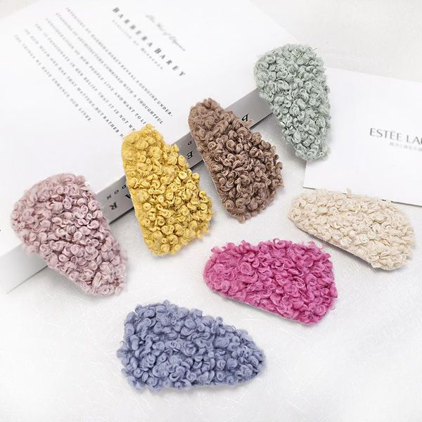 New color wool curl hair clips NHOU151177