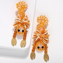 Handmade beads crab bird animal earrings NHJQ151046
