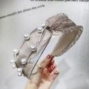 Sweet mesh nails pearl headband NHOU151171