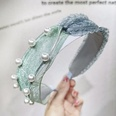 NHOU302677-Mint-green-lace-pearl-headband