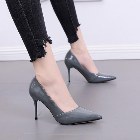 New high-heeled wedding shoes pointed toe stiletto shoes sexy nightclub women's shoes NHEH191329's discount tags