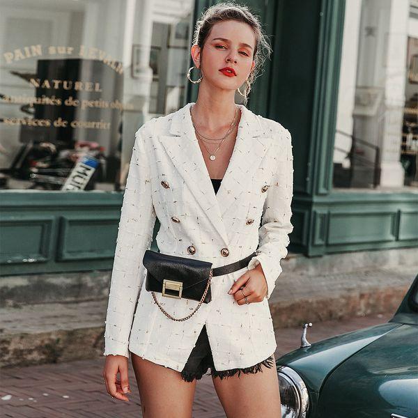 White fashion long sleeve coat wholesale women's clothes NHDE191388