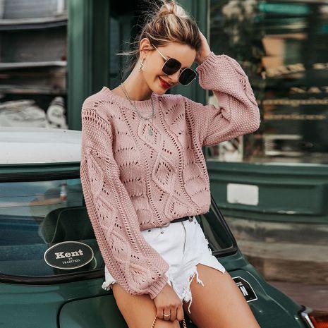 Fur ball lantern sleeve shirt wholesale women's clothes NHDE191402's discount tags
