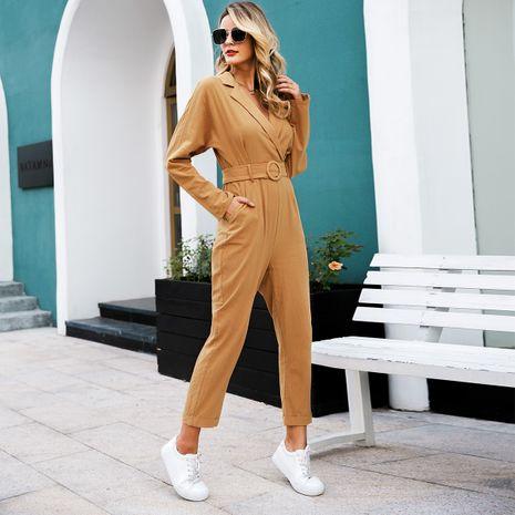 Khaki commuter suit wholesale women's clothes NHDE191410's discount tags
