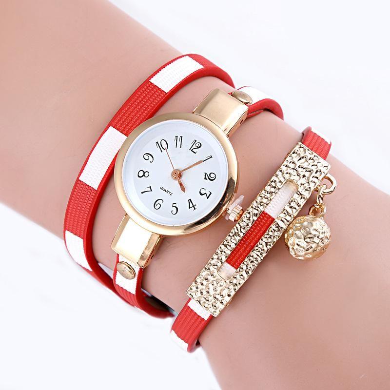Aleación Colgante Bola Cuarzo Sra. Círculo Reloj Mujer Lona Simple Chica Reloj Al Por Mayor NHSY193624