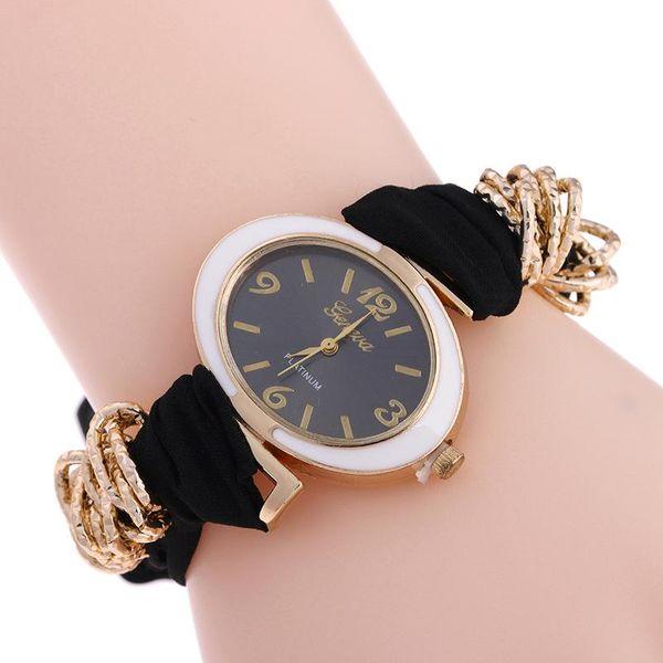 New popular ladies bracelet watch oval dial ribbon quartz ladies watch NHSY193627