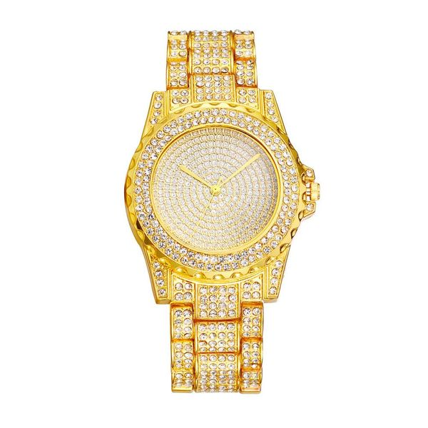 Women's Steel Band Watch Korean Dazzling Starry Diamond Flash Dial Dial Quartz Watch Wholesale NHSY193628