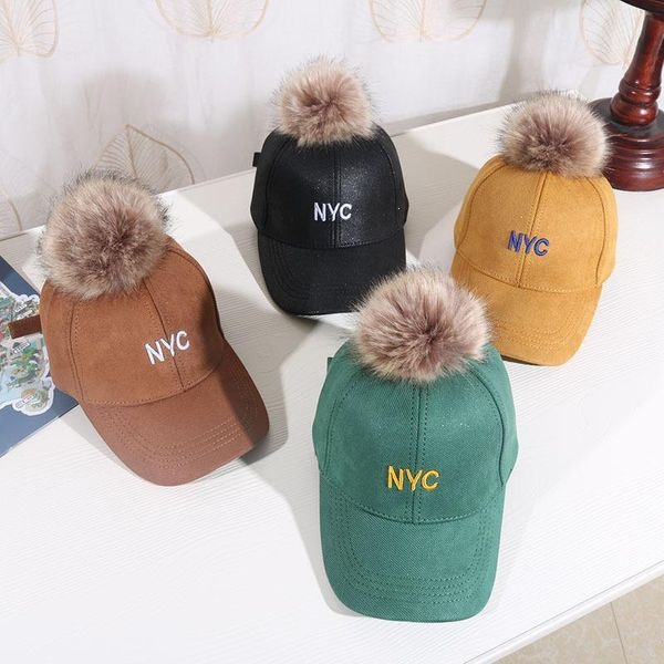 New children's caps autumn and winter boys and girls baseball caps NHHY193649