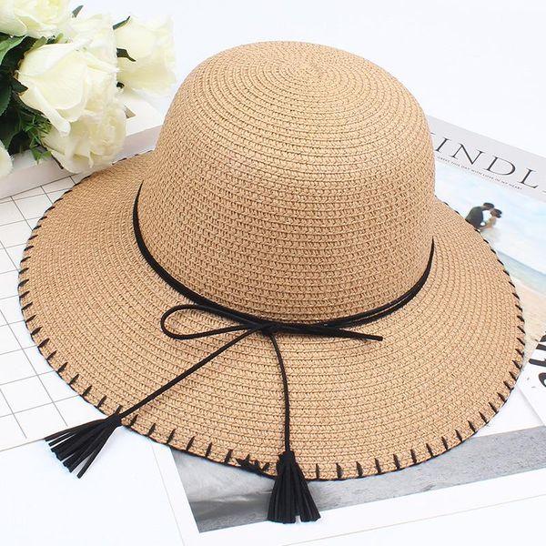 Korean version of the new hat bow wild sunshade hat NHXO193731