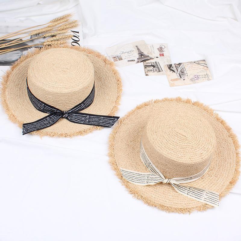 Straw hat summer sun hat sun hat beach hat NHXO193738