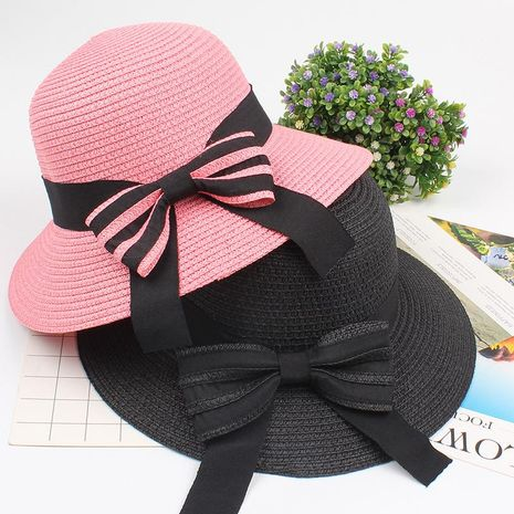 Women's elegant hat with straw hat NHXO193746's discount tags