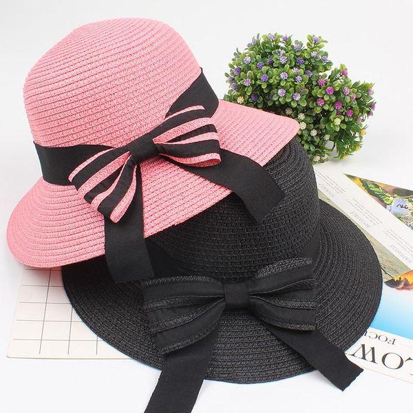 Women's elegant hat with straw hat NHXO193746