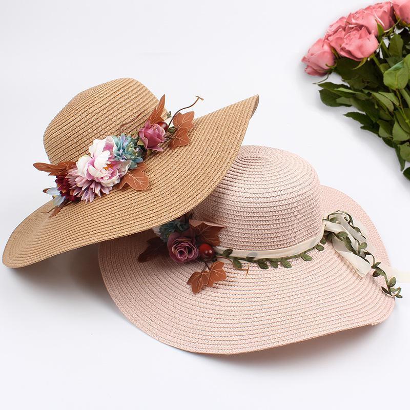 Summer new female sun visor foldable straw hat NHXO193753