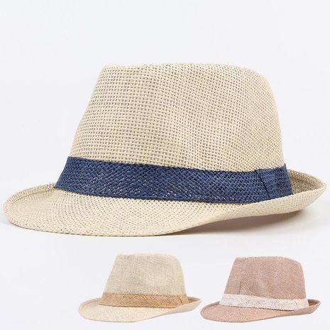 Grass couple jazz top hat beach beach sun shade sun hat NHXO193756's discount tags