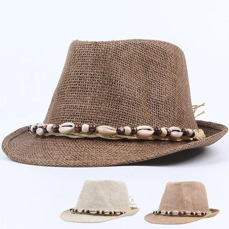 Korean summer fashion straw hat outdoor travel visor shell beach hat NHXO193757's discount tags