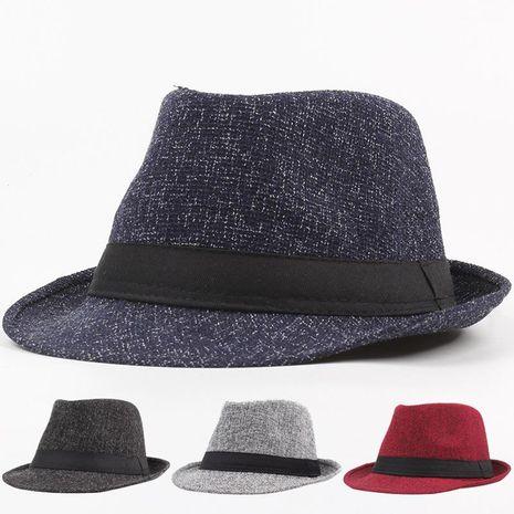 New imitation linen leisure straw hat Korean fisherman hat beach hat NHXO193759's discount tags