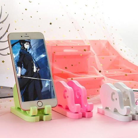 Cute wooden phone stand girly heart desktop cartoon modeling stationery wholesale NHHE193773's discount tags