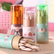 Cute mini bear 12 color small pencil drawing pen NHZE193788