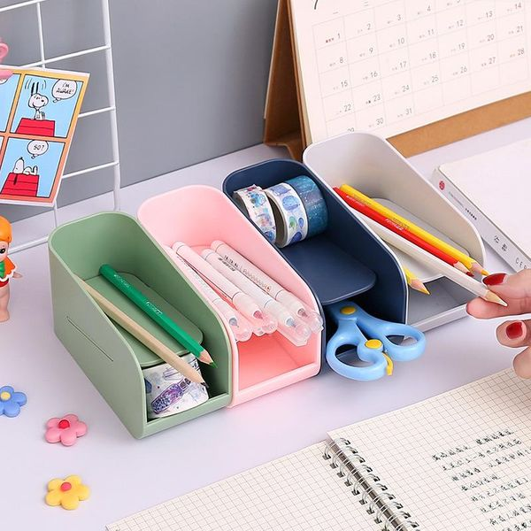 Simple fashion oblique plug-in plastic desktop student office supplies NHZE193808