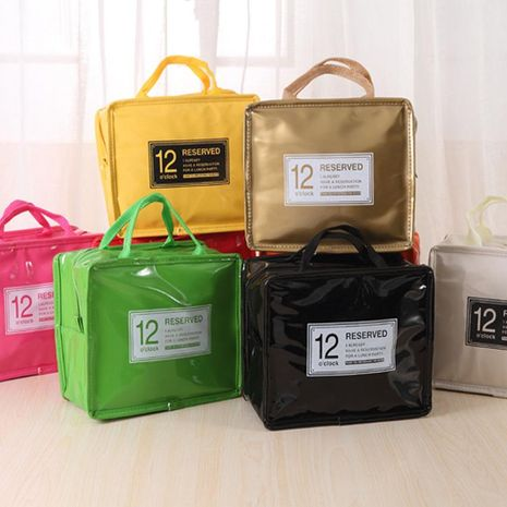 Japan and South Korea cute large lunch box bag student insulation bag waterproof portable female bag fashion white-collar insulation lunch bag NHZE193817's discount tags