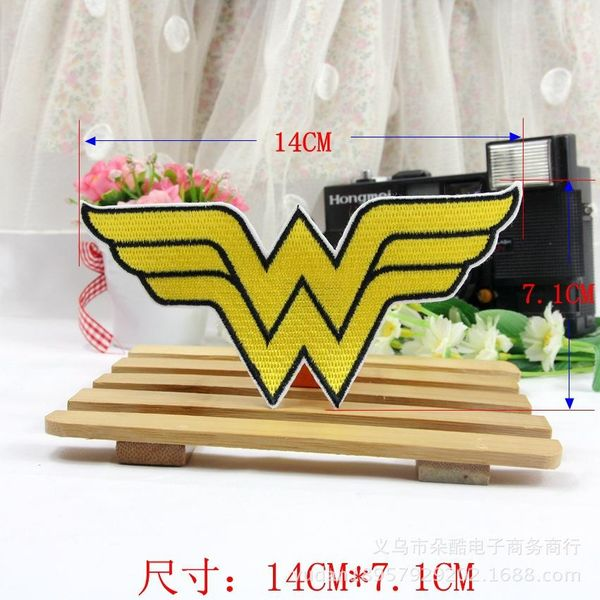 Badge Clothing Accessories Fully Embroidered Wings Yellow Cloth Sticker Wholesale DIY Manual Patch Sticker Badge NHDX193848