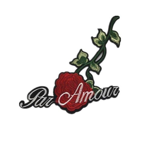 Fashion rose embroidery cloth stickers accessories clothes sweater coat patch decal decoration DIY subsidy NHLT193856's discount tags