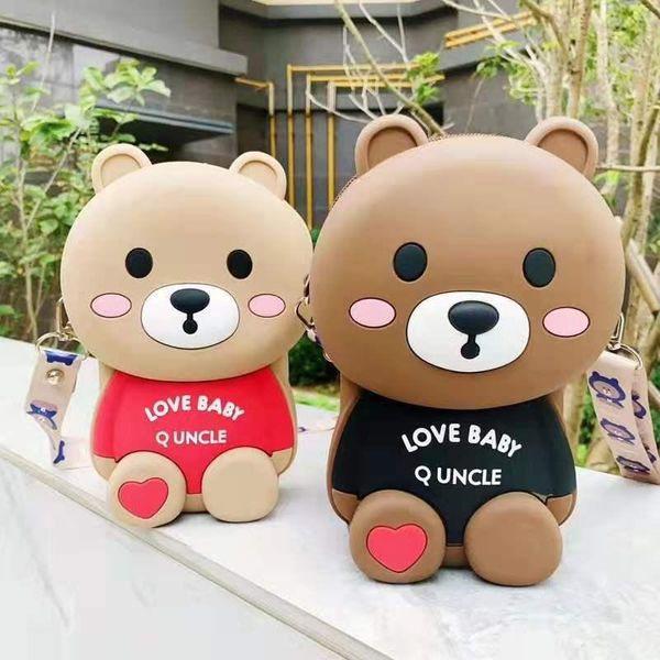 Cartoon cute silicone bear bag new net red messenger bag women NHFA193867