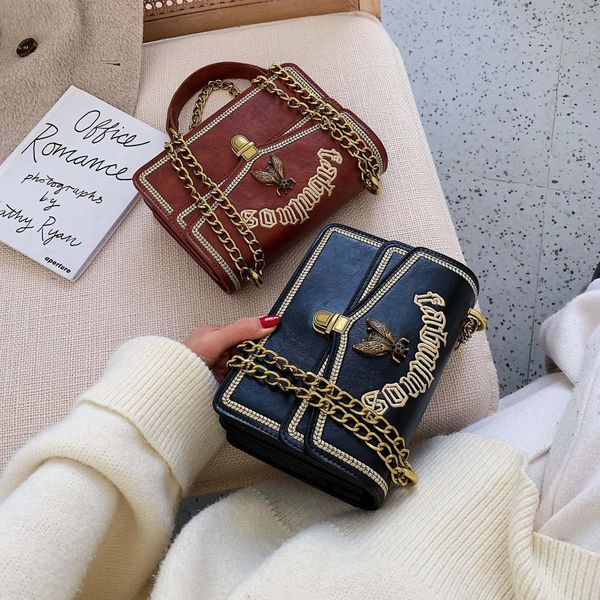 Women's embroidered bee bag chain temperament bag crossbody shoulder bag NHLD193908