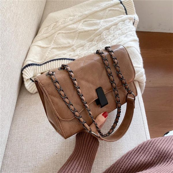 New wild pure color casual cross-body shoulder small square bag NHLD194019