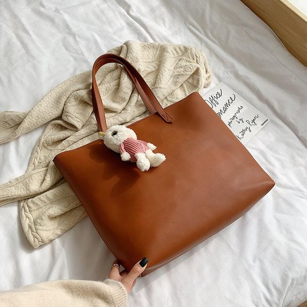 New fashion casual texture wild one shoulder portable large bucket bag NHLD194048