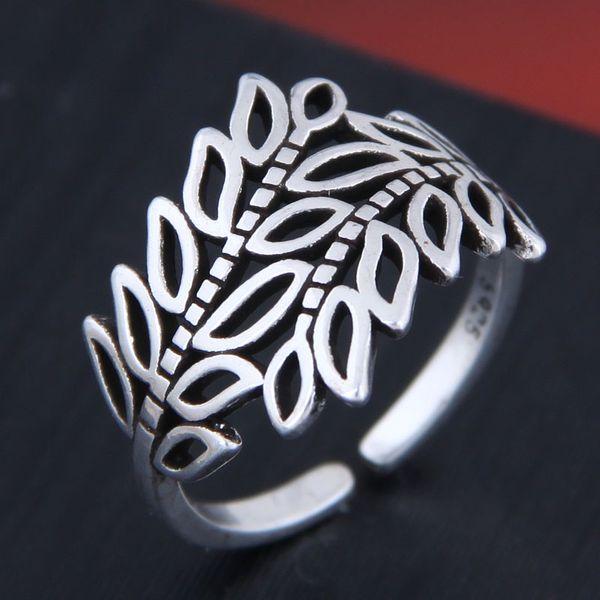Delicate Korean Fashion Sweet OL Retro Branch Open Ring NHSC194607