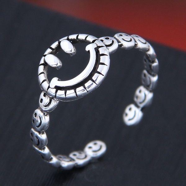 Delicate Korean Fashion Sweet OL Retro Smiley Open Ring NHSC194604
