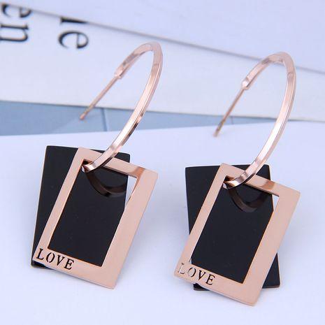 Exquisitos y elegantes aretes de acero de titanio. NHSC194587's discount tags
