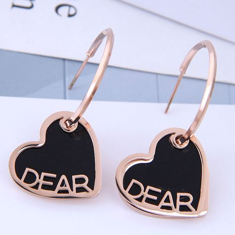 Exquisite and stylish titanium steel earrings NHSC194585's discount tags