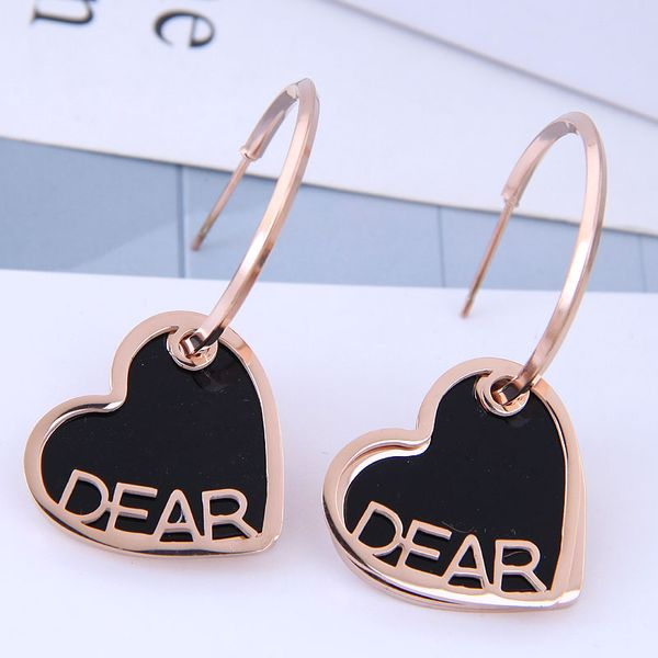 Exquisite and stylish titanium steel earrings NHSC194585