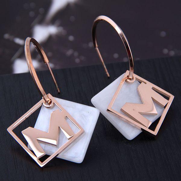 Exquisite fashion titanium steel stud earrings NHSC194582