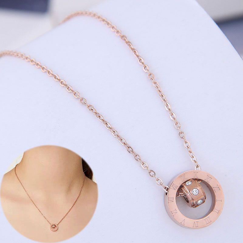 Exquisite Korean fashion titanium steel chain simple necklace NHSC194576