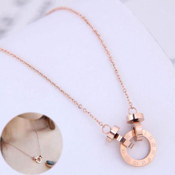 Exquisite Korean fashion titanium steel necklace NHSC194573