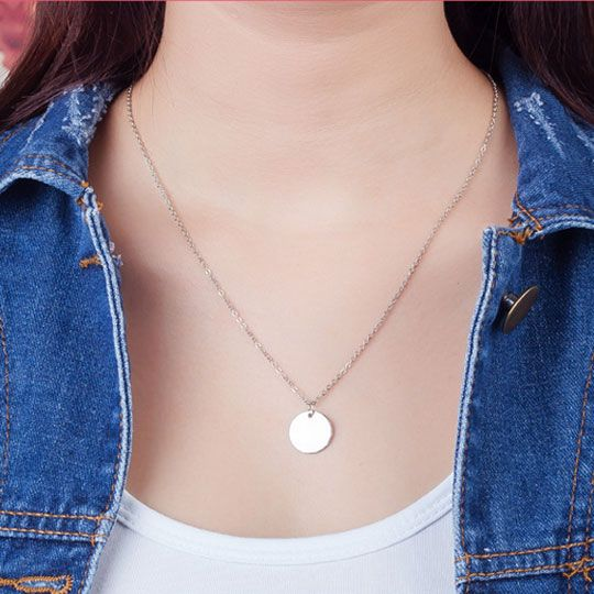 Fashionable simple small round necklace NHSC194569