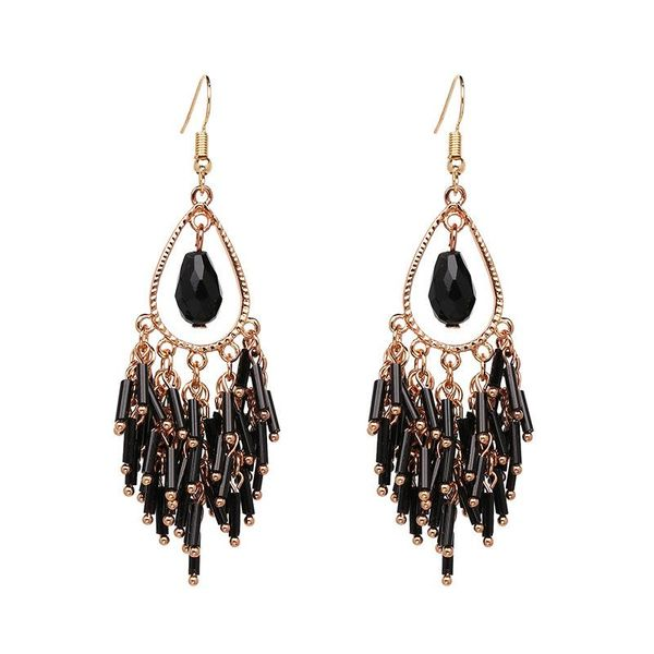New Bohemia Delicate Tassel Earrings Jewelry Wholesale NHJJ194128