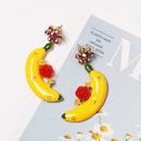 Banana flower earrings diamond stud earrings womens earrings wholesale NHJJ194129