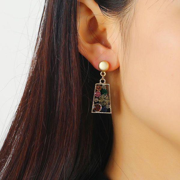 Fashion full diamond pendant earrings ears wholesale NHKQ194138