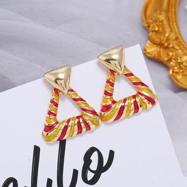 Fashion L Triangle Stud Earrings Personalized Geometric Tassel Earrings NHKQ194139