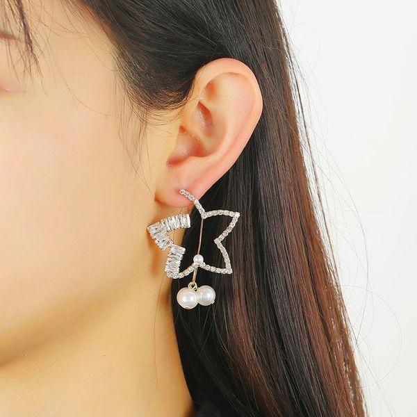 Zircon Earrings High-grade Copper Diamond Earrings Simple Geometric Earrings Wholesale NHKQ194143