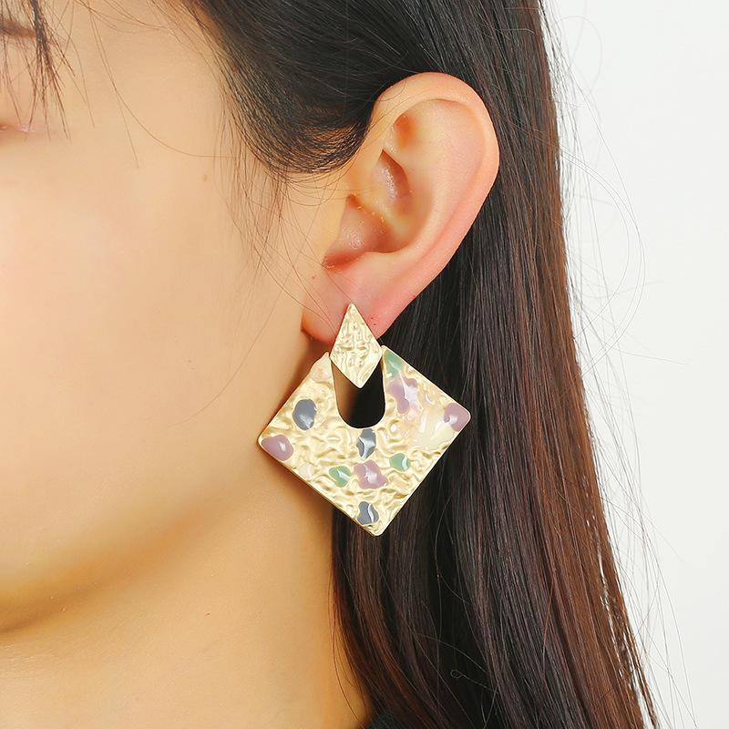 Fashion vintage alloy ladies earrings wholesale NHKQ194148
