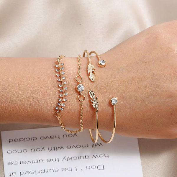 Simple temperament ladies fish bone Middle East adjustable bracelet wholesale NHKQ194192